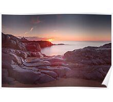 Sunrise over Bracelet Bay Poster