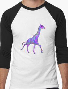 Psychedelic Giraffe Men's Baseball ¾ T-Shirt