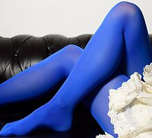 Smurfette on the couch  by Wheatley