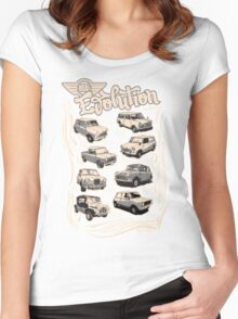 Evolution Of Mini Women's Fitted Scoop T-Shirt