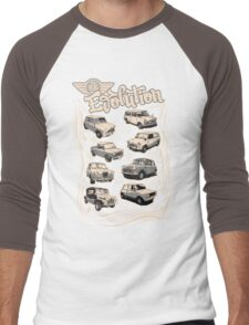 Evolution Of Mini Men's Baseball ¾ T-Shirt