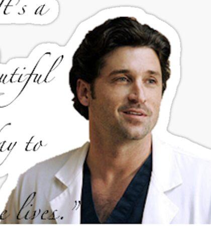 Derek Shepherd Grey's Anatomy Sticker