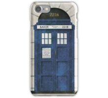Baker Street - Sherlock's Door iPhone Case/Skin