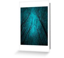 Endure the Darkness (Night Trees Silhouette Abstract 2) Greeting Card