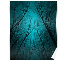 Endure the Darkness (Night Trees Silhouette Abstract 2) Poster
