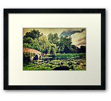 Zen Meditation Lily Pond Framed Print