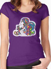 Rainbow Nouveau  Women's Fitted Scoop T-Shirt