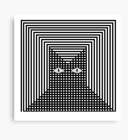 Feline The Line Cat Canvas Print