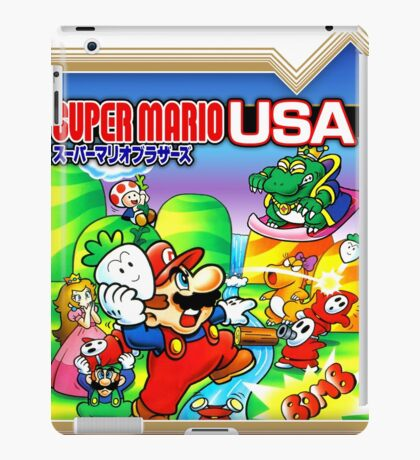 NES Super Mario Brothers 2 - Japanese Cover  iPad Case/Skin