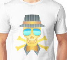Goldener Totenkopf Unisex T-Shirt