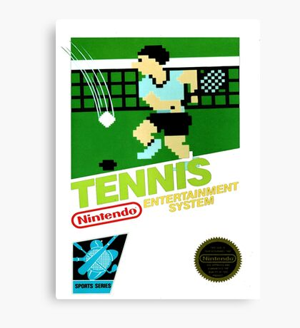NES Tennis Transparent  Canvas Print