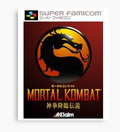 Mortal Kombat Japanese Cover  Canvas Print