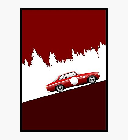 Alfa Romeo 1300 GTA Junior ArtWork Photographic Print