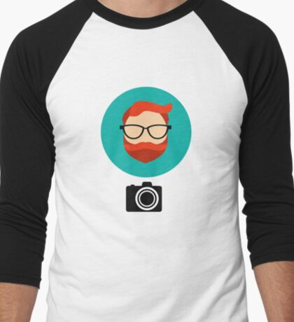 Photographer blogger Men's Baseball ¾ T-Shirt