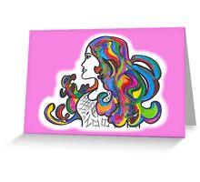Rainbow Nouveau  Greeting Card