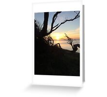 Safety Beach Sunset Greeting Card