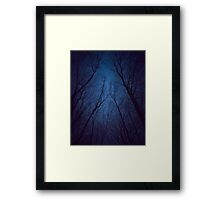 I Have Loved the Stars too Fondly (Night Trees Silhouette Abstract 2) Framed Print