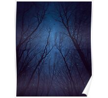 I Have Loved the Stars too Fondly (Night Trees Silhouette Abstract 2) Poster