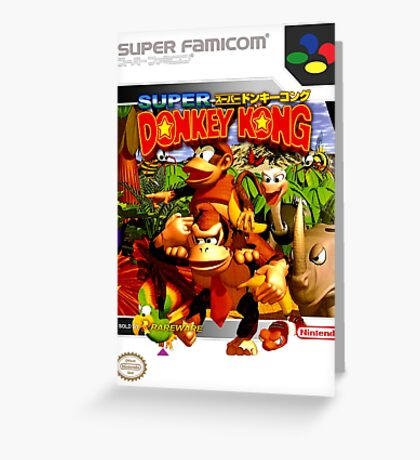Donkey Kong Country Japanese Cover Greeting Card