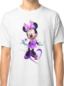 Lady Mouse with Jewel and Purple Ribbon Classic T-Shirt