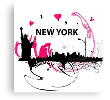 New York Cityscape Art Canvas Print
