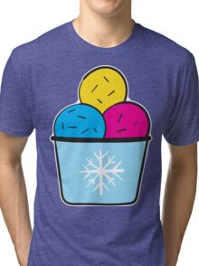 Ice Cream Colorful Tri-blend T-Shirt