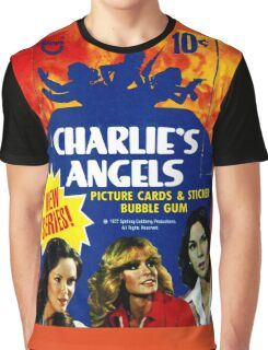 Vintage Charlie's Angels Topps Trading Cards Box Graphic T-Shirt