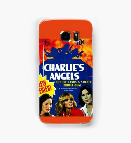 Vintage Charlie's Angels Topps Trading Cards Box Samsung Galaxy Case/Skin