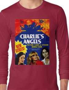 Vintage Charlie's Angels Topps Trading Cards Box Long Sleeve T-Shirt