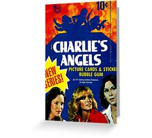 Vintage Charlie's Angels Topps Trading Cards Box Greeting Card