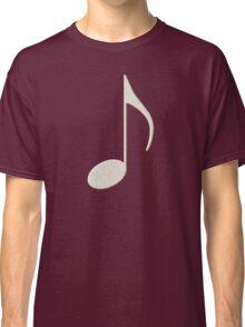 White Music Note Classic T-Shirt