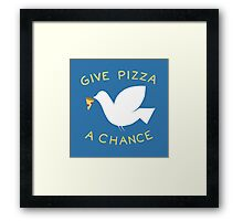 War & Pizza Framed Print