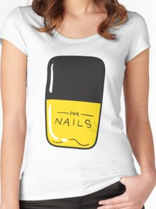 Yellow Nail Polish Women's Fitted Scoop T-Shirt