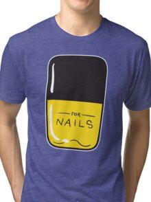 Yellow Nail Polish Tri-blend T-Shirt
