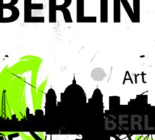 Berlin skyline abstract Sticker