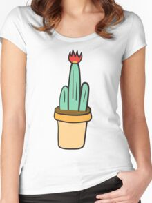 Cactus Women's Fitted Scoop T-Shirt