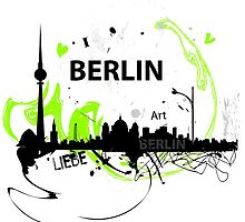 Berlin skyline abstract by butusova