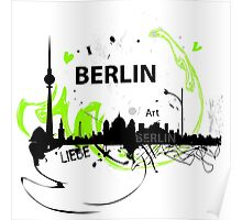 Berlin skyline abstract Poster