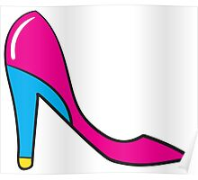 Woman Pink Shoes Poster