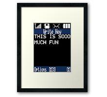 Text Message (black) Framed Print