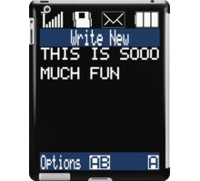 Text Message (black) iPad Case/Skin