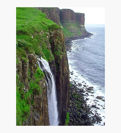 Waterfall at Kilt Rock Photographic Print