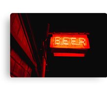 The Beer Signage Canvas Print
