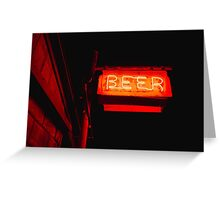 The Beer Signage Greeting Card