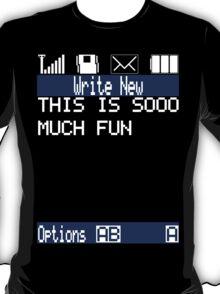 Text Message (black) T-Shirt