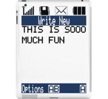 Text Message (white) iPad Case/Skin