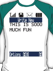 Text Message (white) T-Shirt