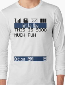 Text Message (white) Long Sleeve T-Shirt