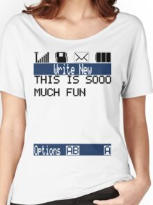 Text Message (white) Women's Relaxed Fit T-Shirt