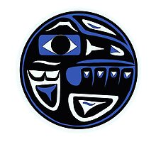 Northwest Indian Raven Moon by Becca C. Smith